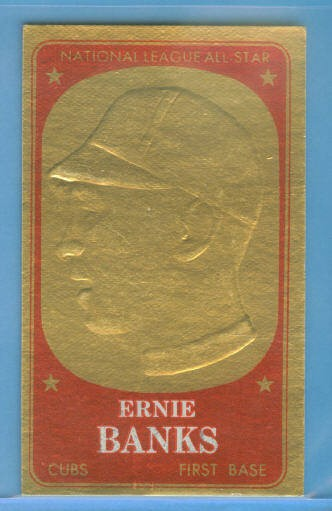 1965 Topps Embossed #58 Ernie Banks