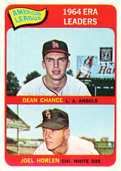 1965 Topps #7 AL ERA Leaders/Dean Chance/Joel Horlen