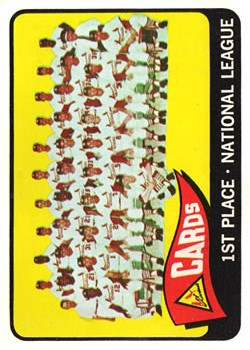 1965 Topps #57 St. Louis Cardinals TC