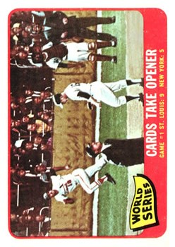 1965 Topps #132 World Series Game 1/Cards Take Opener