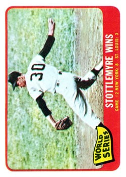 1965 Topps #133 World Series Game 2/Mel Stottlemyre