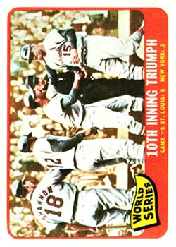 1965 Topps #136 World Series Game 5/Tim McCarver