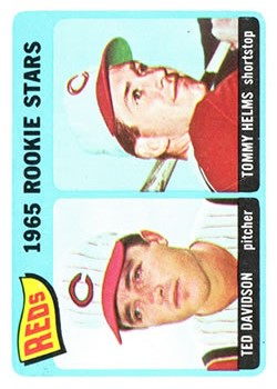 1965 Topps #243 Rookie Stars/Ted Davidson RC/Tommy Helms RC