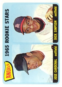 1965 Topps #374 Rookie Stars/Jose Cardenal RC/Dick Simpson
