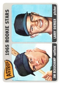 1965 Topps #409 Rookie Stars/Jim Beauchamp/Larry Dierker RC