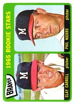 1965 Topps #461 Rookie Stars/Clay Carroll RC/Phil Niekro