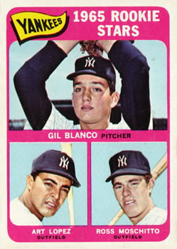 1965 Topps #566 Rookie Stars/Gil Blanco RC/Ross Moschitto RC/Art Lopez RC SP