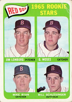 1965 Topps #573 Rookie Stars/Jim Lonborg RC/Gerry Moses RC/Bill Schlesinger RC/Mike Ryan RC SP