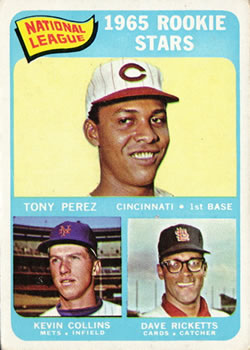 1965 Topps #581 Rookie Stars/Tony Perez RC/Dave Ricketts RC/Kevin Collins RC SP
