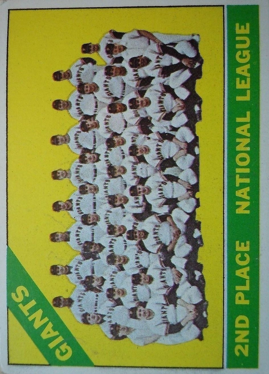 1966 Topps #19 San Francisco Giants TC