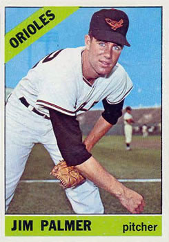 1966 Topps #126 Jim Palmer UER RC (Described as Left Hander on Card Back)