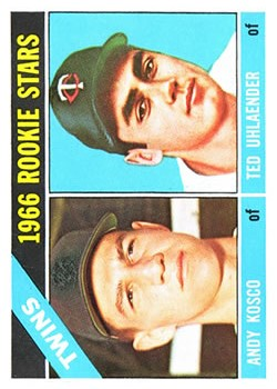 1966 Topps #264 Rookie Stars/Andy Kosco RC/Ted Uhlaender RC