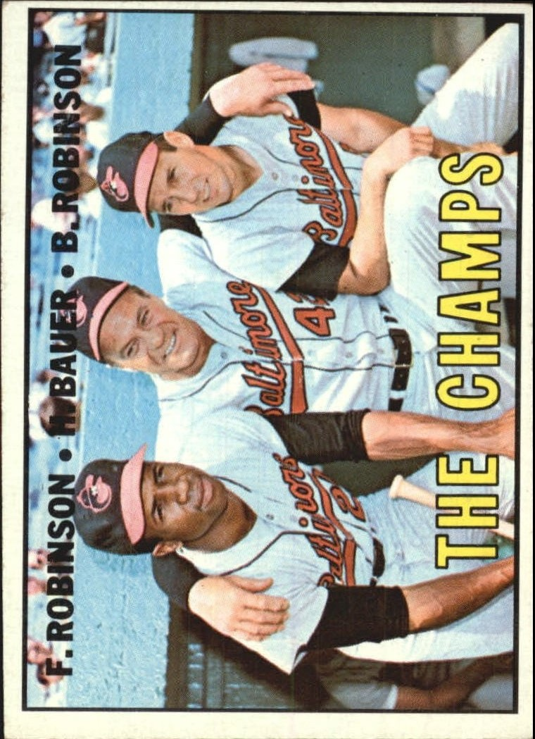 1967 Topps #1 The Champs/Frank Robinson/Hank Bauer MG/Brooks Robinson DP