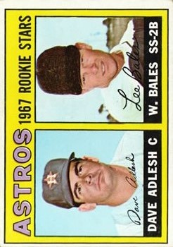 1967 Topps #51 Rookie Stars/Dave Adlesh RC/Wes Bales RC