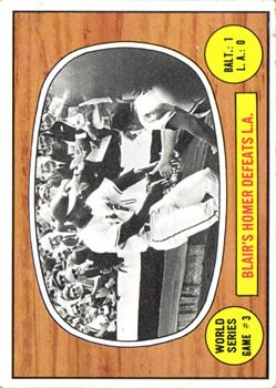 1967 Topps #153 World Series Game 3/Paul Blair
