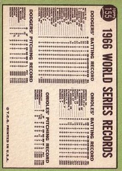 1967 Topps #155 World Series Summary/Winners Celebrate