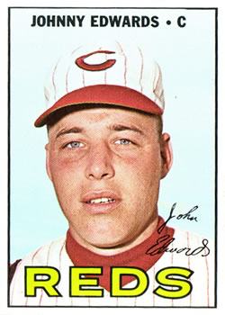 1967 Topps #202 Johnny Edwards