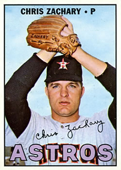 1967 Topps #212 Chris Zachary