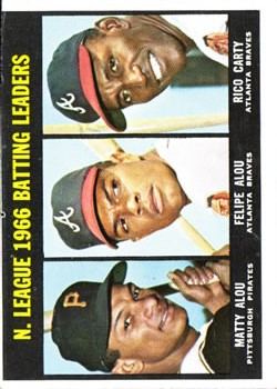 1967 Topps #240 NL Batting Leaders/Matty Alou/Felipe Alou/Rico Carty