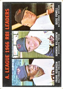 1967 Topps #241 AL RBI Leaders/Frank Robinson/Harmon Killebrew/Boog Powell