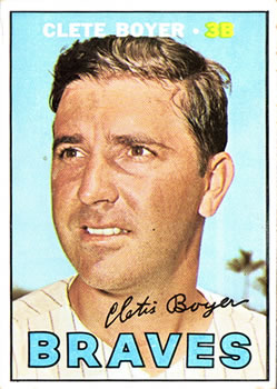 1967 Topps #328 Clete Boyer UER/(Stats only go up/through 1965)