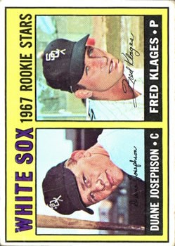 1967 Topps #373 Rookie Stars/Duane Josephson RC/Fred Klages RC DP
