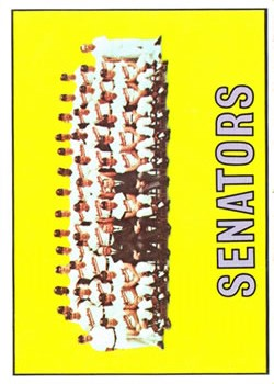 1967 Topps #437 Washington Senators TC