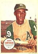 1967 Topps Posters Inserts #2 Bert Campaneris