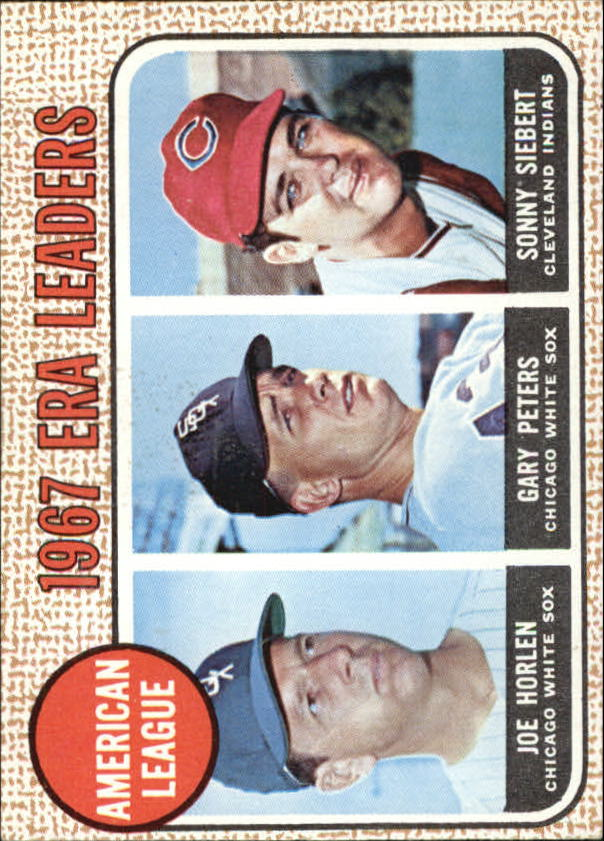 1968 Topps #8 AL ERA Leaders/Joel Horlen/Gary Peters/Sonny Siebert