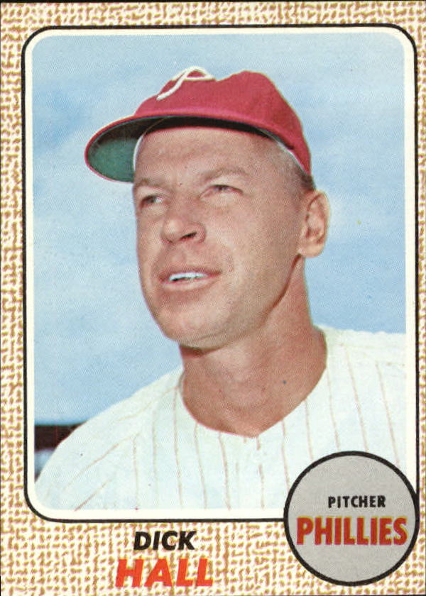 1968 Topps #17 Dick Hall front image