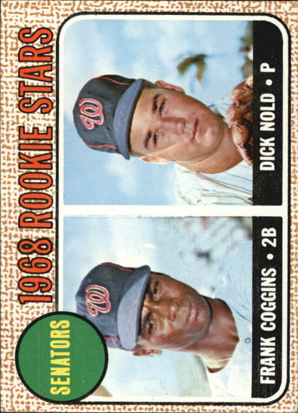 1968 Topps #96 Rookie Stars/Frank Coggins RC/Dick Nold