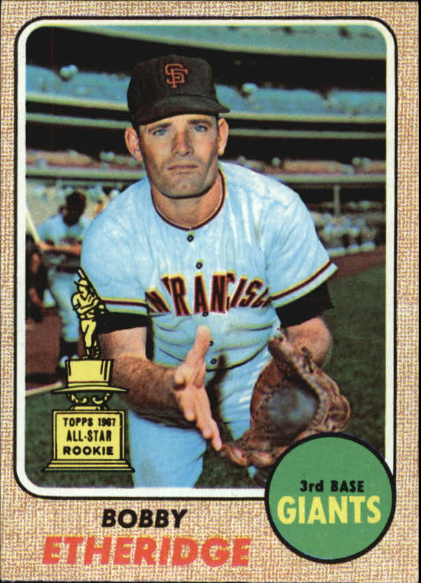 1968 Topps #126 Bobby Etheridge RC