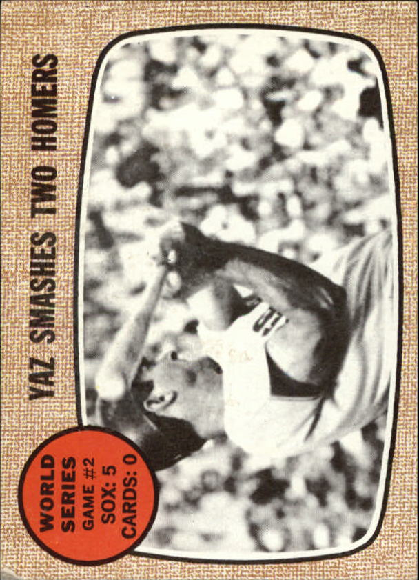 1968 Topps #152 World Series Game 2/Carl Yastrzemski