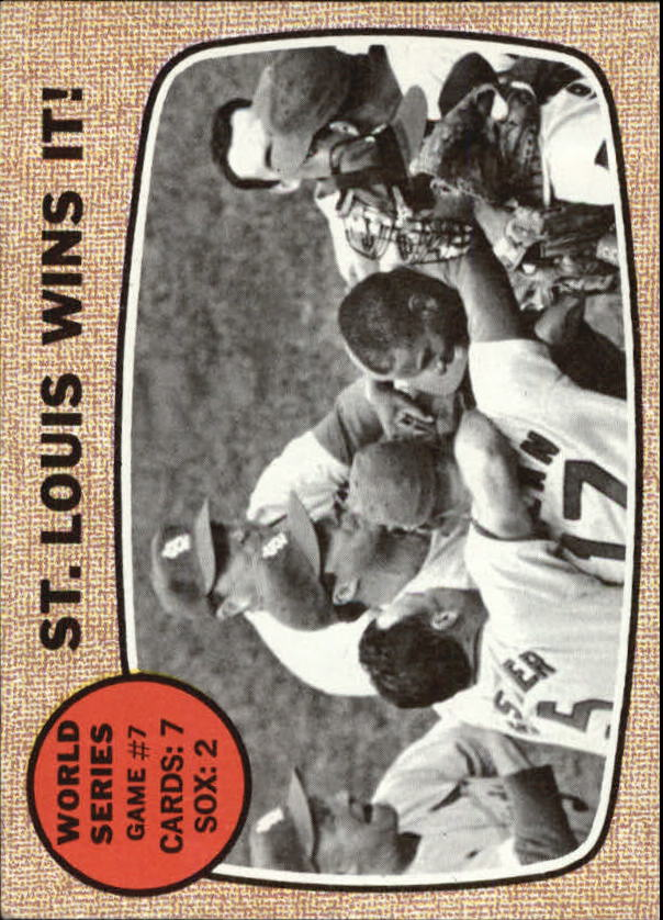 1968 Topps #157 World Series Game 7/St. Louis Wins it