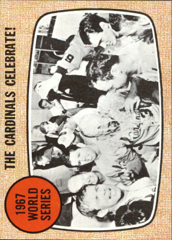 1968 Topps #158 World Series Summary/Cardinals Celebrate