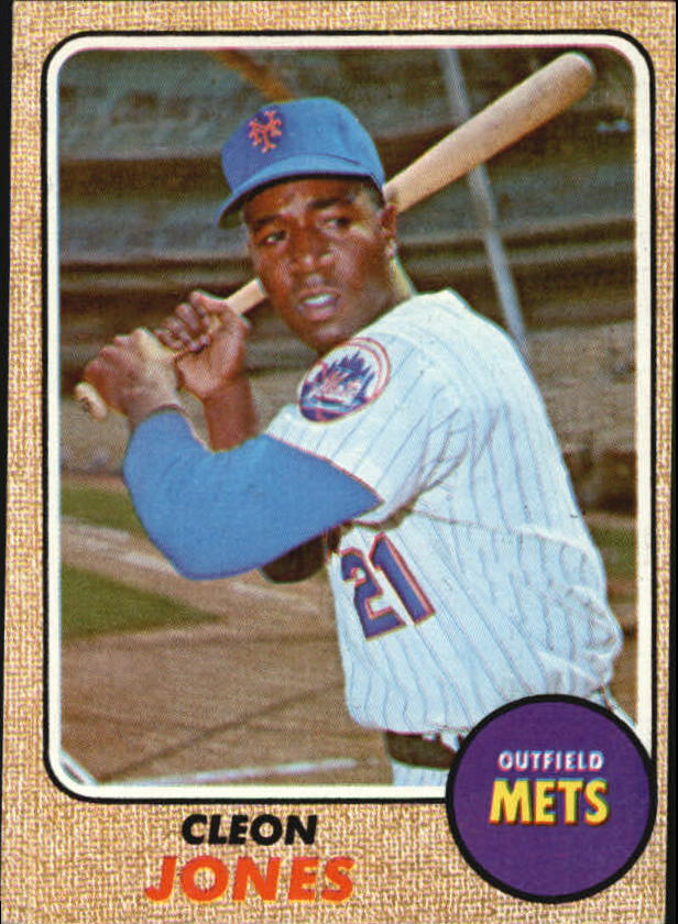 1968 Topps #254 Cleon Jones