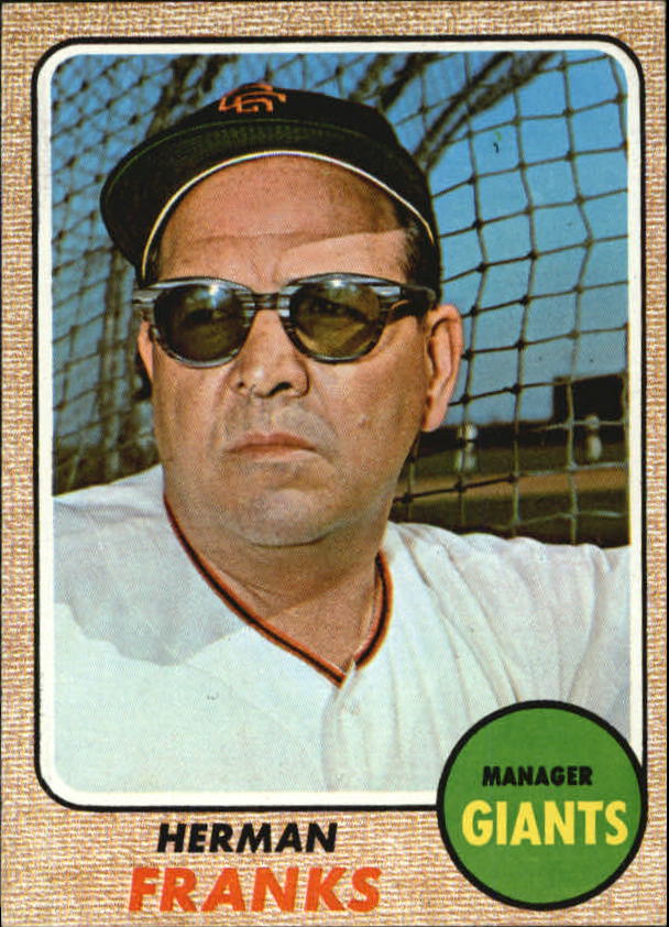 1968 Topps #267 Herman Franks MG