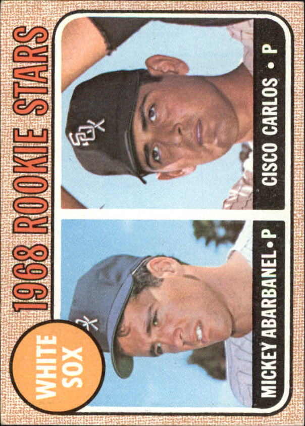 1968 Topps #287 Rookie Stars/Mickey Abarbanel RC/Cisco Carlos RC
