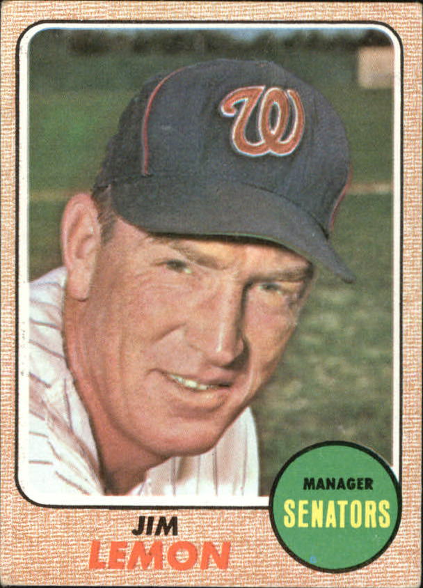 1968 Topps #341 Jim Lemon MG front image
