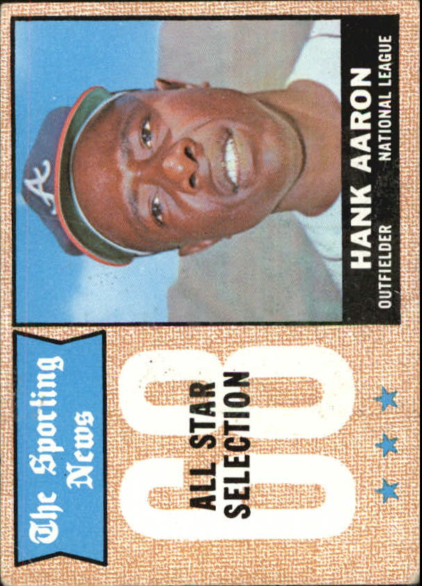 1968 Topps #370 Hank Aaron AS