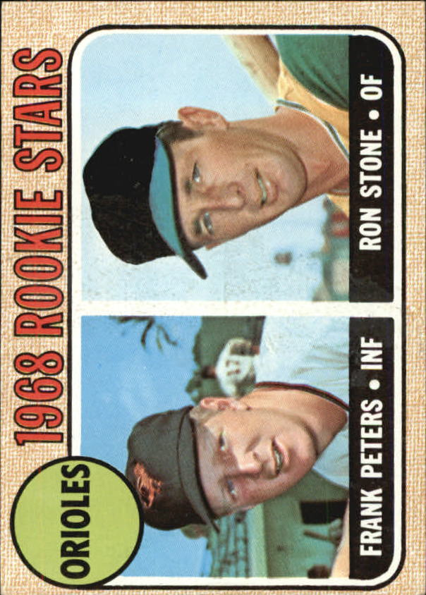 1968 Topps #409 Rookie Stars/Frank Peters RC/Ron Stone
