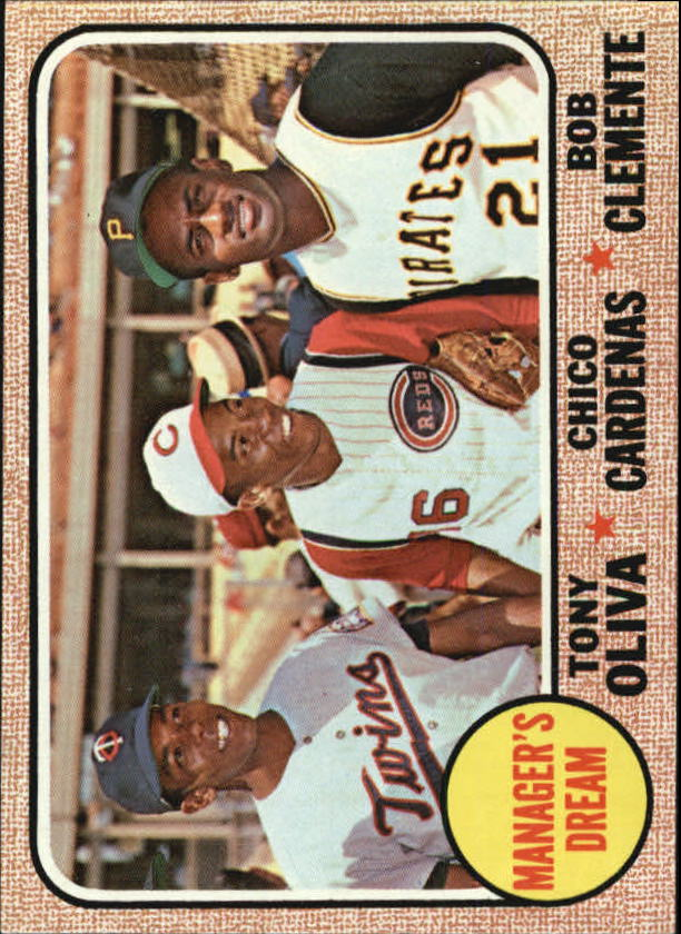 1968 Topps #480 Manager's Dream/Tony Oliva/Chico Cardenas/Bob Clemente