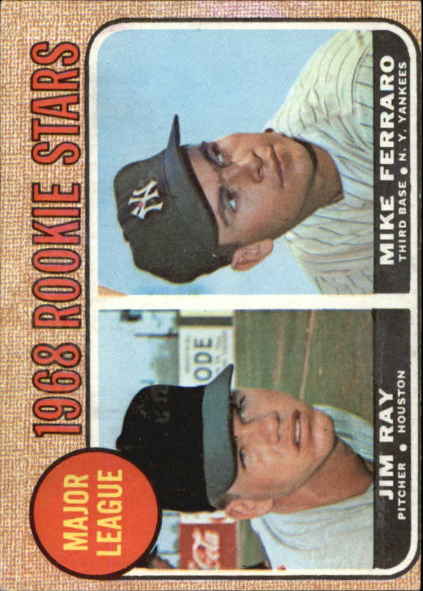 1968 Topps #539 Rookie Stars/Jim Ray RC/Mike Ferraro RC