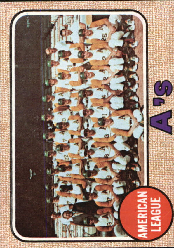 1968 Topps #554 Oakland Athletics TC