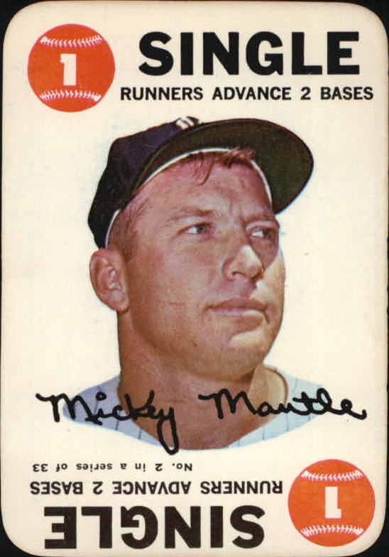 1968 Topps Game #2 Mickey Mantle