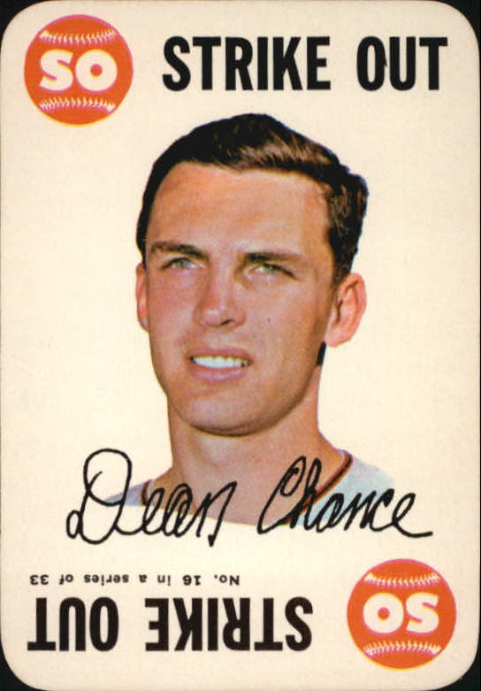 1968 Topps Game #16 Dean Chance