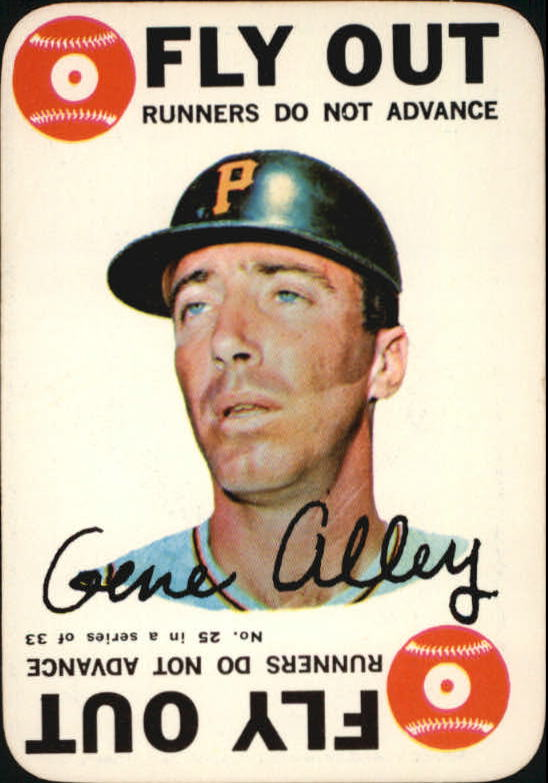 1968 Topps Game #25 Gene Alley