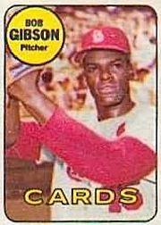 1969 Topps Decals #12 Bob Gibson