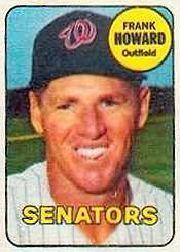 1969 Topps Decals #18 Frank Howard