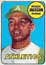 1969 Topps Decals #19 Reggie Jackson front image